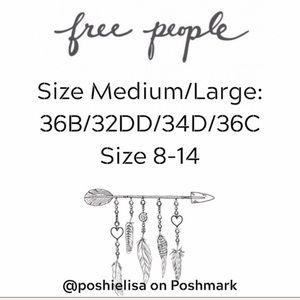 Free People Tops - Free People Seamless Brami M/L Washed Grey